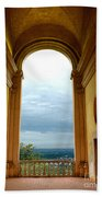 Villa Deste Tivoli Italy Beach Towel