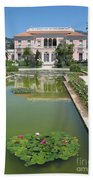 Villa Ephrussi De Rothschild With Reflection Beach Towel