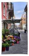 Village Flowershop Beach Towel