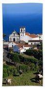 Village In Azores Islands Beach Towel