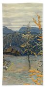 Village In The Ural Mountains Beach Towel