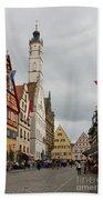 Village Scene Rothenburg Ob Der Tauber Beach Towel