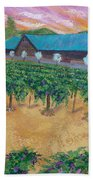 Vineyard Sunset Beach Towel