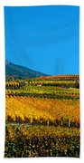 Vineyards In Autumn, Valais Canton Beach Towel