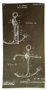 Vintage 1902 Anchor Patent Beach Towel