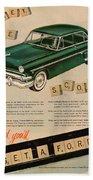 Vintage 1954 Ford Classic Car Advert Beach Towel
