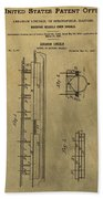 Vintage Abraham Lincoln Patent Beach Towel