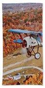 Vintage Airplane Postcard Art Prints Beach Towel