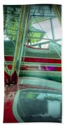 Vintage Airplane Two Beach Towel