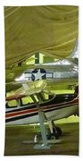 Vintage Airplanes Display Beach Towel