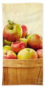 Vintage Apple Basket Beach Sheet