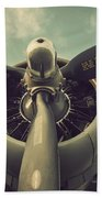 Vintage B-17 Flying Fortress Propeller Beach Towel