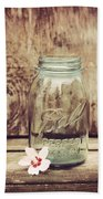 Vintage Ball Mason Jar Beach Towel