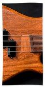 Vintage Bass Guitar Body Beach Towel