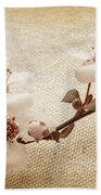 Vintage Blossoms Beach Sheet