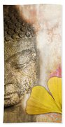 Vintage Buddha And Ginkgo Beach Towel