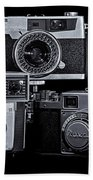 Vintage Camera Trio Beach Towel