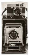 Vintage Cameras Beach Sheet