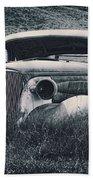 Vintage Car At Bodie Beach Towel by Kelley King