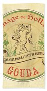 Vintage Cheese Label 2 Beach Towel