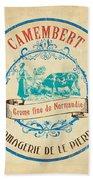 Vintage Cheese Label 3 Beach Towel by Debbie DeWitt