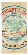Vintage Cheese Label 4 Beach Towel by Debbie DeWitt