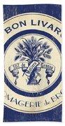 Vintage Cheese Label 6 Beach Towel by Debbie DeWitt