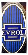 Vintage Chevrolet Logo Beach Towel
