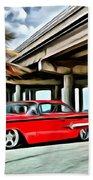 Vintage Chevy Impala Beach Towel