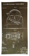 Vintage Cider Mill Patent Beach Towel