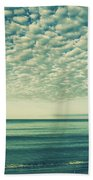 Vintage Clouds Beach Sheet