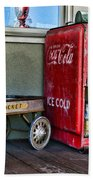 Vintage Coca-cola And Rocket Wagon Beach Towel