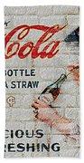 Vintage Coke Sign Beach Towel