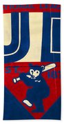 Vintage Cubs Spring Training Sign Beach Towel