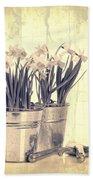 Vintage Daffodils Beach Towel