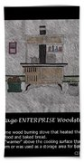 Vintage Enterprise Woodstove Beach Towel