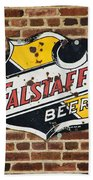Vintage Falstaff Beer Shield Dsc07192 Beach Towel