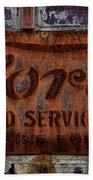 Vintage Ford Authorized Service Sign Beach Towel
