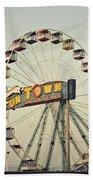 Vintage Funtown Ferris Wheel Beach Towel