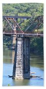 Vintage Garden City Bridge Beach Towel