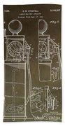 Vintage Gas Pump Patent Beach Towel