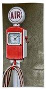 Vintage Gas Station Air Pump 2 Beach Towel