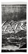 Vintage Hero Sign In Black And White  Beach Towel