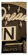 Vintage Hotel - Motel Sign Beach Towel