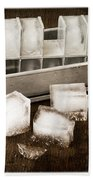 Vintage Ice Cubes Beach Towel by Edward Fielding