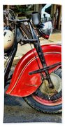 Vintage Indian Motorcycle - Live To Ride Beach Towel