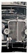 Vintage Jaguar 1950s Beach Towel