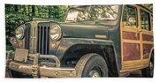 Vintage Jeep Station Wagon Beach Towel
