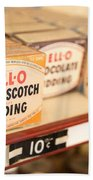 Vintage Jell-o Butterscotch Pudding Beach Towel by Edward Fielding