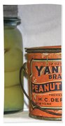 Vintage Kitchen Pantry Pairs And Peanut Butter Beach Towel